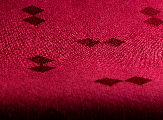 Red damask tablecloth - a study in perspective, structure and pattern - 6M7A8761