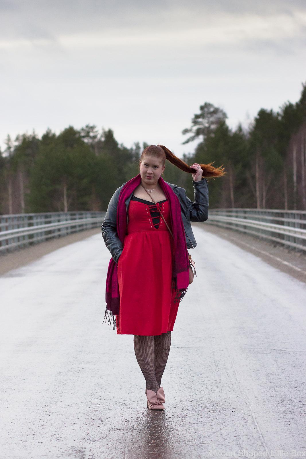 Paivan-asu-tyyliblogiin-punainen-mekko