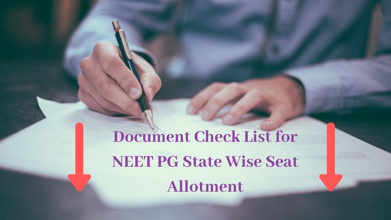 NEET PG State Wise Seat Allotment