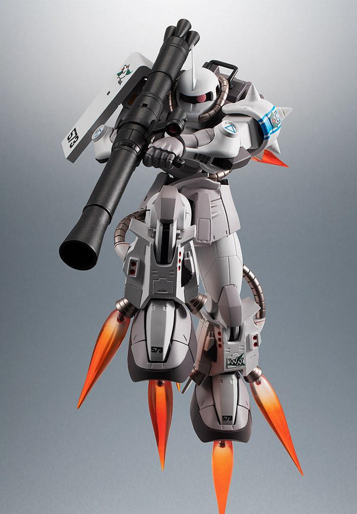 吉翁軍的雪白之蒼狼!ROBOT 魂《機動戰士鋼彈 MSV-R》松永真專用高機動型薩克 II ver. A.N.I.M.E.(MS-06R-1A シン・マツナガ専用高機動型ザクII)