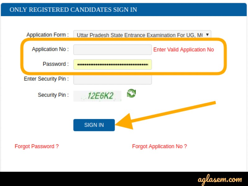 UPSEE 2020 Application Form Correction Login