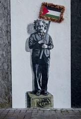 Albert Einstein Graffiti flag at Christmas.