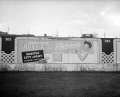 City Light billboard at Sick's Stadium, 1952