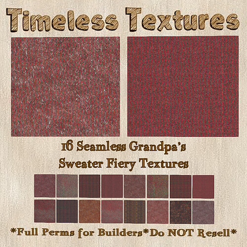 TT 16 Seamless Grandpa's Sweater Fiery Timeless Textures