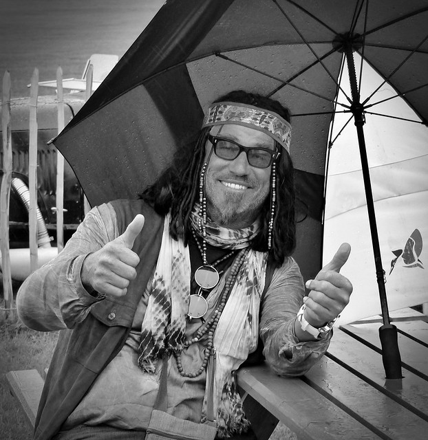 'So cool in the rain' man