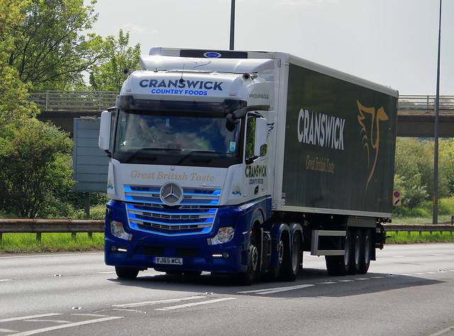 Cranswick Country Foods Mercedes travelling towards Hull on the A63