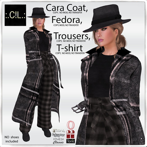 :.C!L.: Winter Cara Coat, Fedora, Trousers and Top Poster