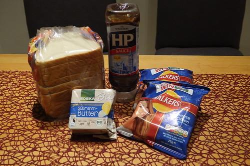 Zutaten für Crisp Sandwiches
