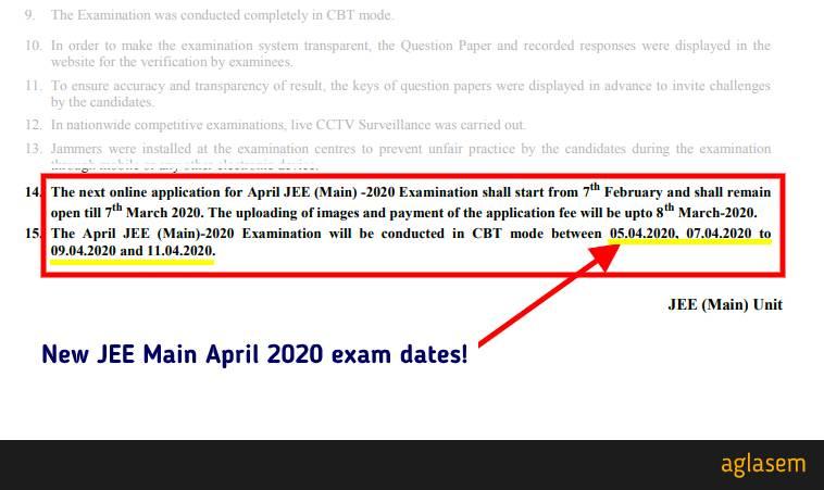 JEE Main April 2020