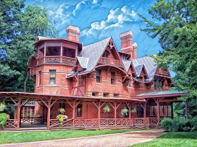 Hartford Connecticut - Mark Twain House and Museum - Historic Architecture