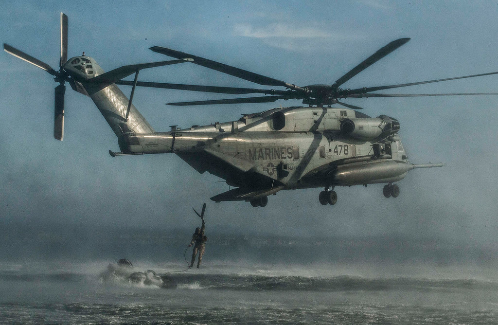 U.S Marines – Helicopter Support Team Training – Exercise Iron Fist