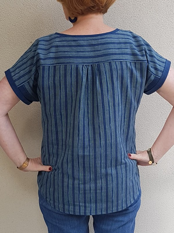 Style Arc Courtney top in handwoven Thai cotton