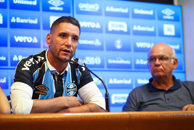 Apresentação Thiago Neves no Grêmio