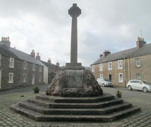 Dunning War Memorial from East