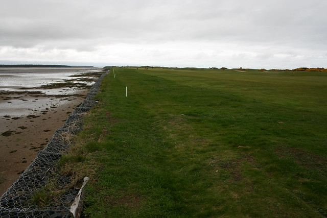The coast beside St Andrews Links golf course