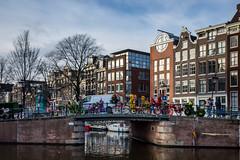 Bikes, flowers and bridges in Amsterdam
