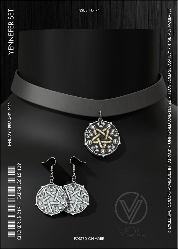 """VOBE for Kinky Event – """"Yennefer"""" choker & earrings"""