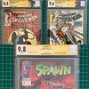 The results of the @cgccomics @toddmcfarlane signing are here! I'm pretty happy with the results: Spawn #1 at 9.8! Amazing Spider-Man #298 at a surprising 9.6! And Amazing Spider-Man #300 coming in at 8.5. The difference between ASM 298 and 300 scores is