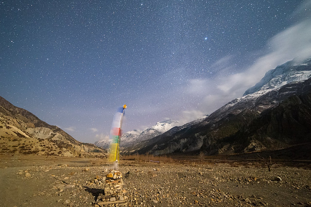 Stars outside Manang