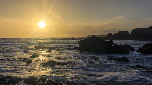 beach bonmahon bunmahon coppercoast landscape outdoor rocks sun sunset water clouds coast coastal coastline cove ireland munster sea seascape sky stones waterford waves knockmahon