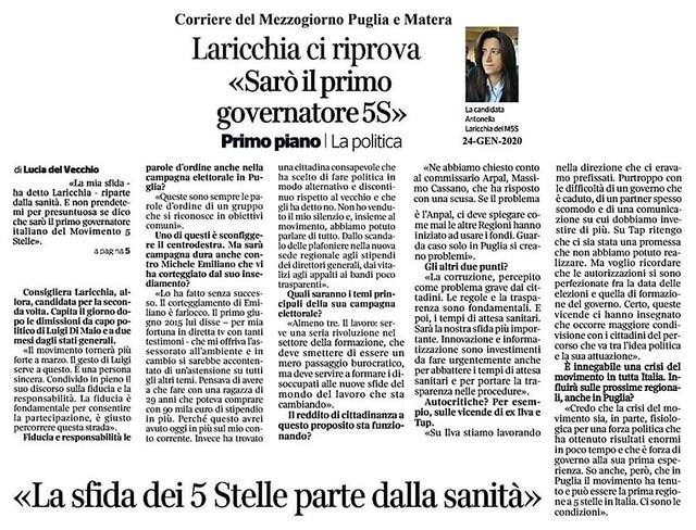 ospedali intervista candidata Laricchia 5 stelle