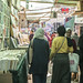 Customers in Egypt's Al-Azbakeya market