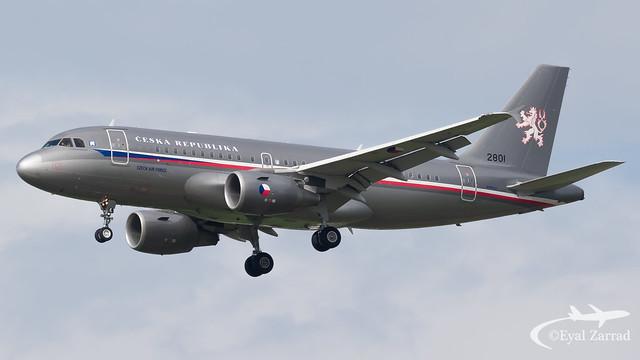 TLV - Czech Air Force Airbus A319 2801