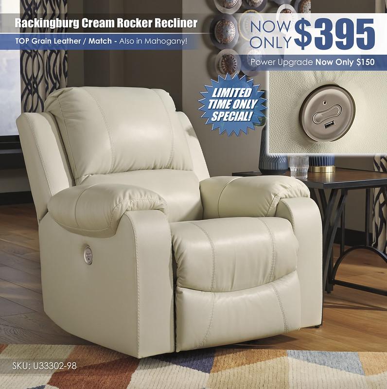 Rackingburg Cream Recliner_U33302-98_RSS