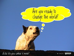 Are you ready to change the world? =  ¿Estás listo para cambiar el mundo? #roofdog