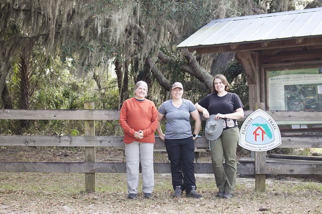 Sandra Friend, me, Kate Dolamore - Chuluota Wilderness to Joshua Creek Trailhead, Florida Trail