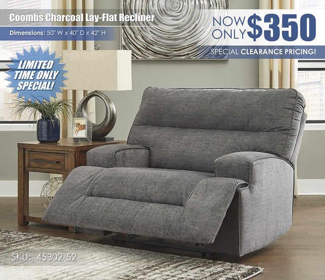 Coombs Charcoal Lay-Flat Recliner_45302-52-OPEN_RSS
