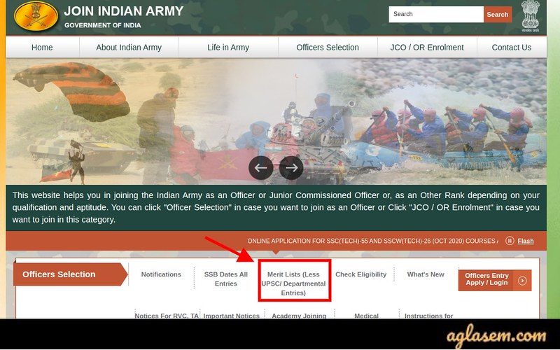 Indian Army JAG Result 2020
