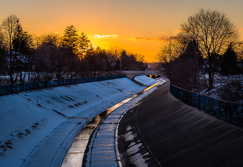 2020 canada january ontario windsor grandmaraisdrain sunset