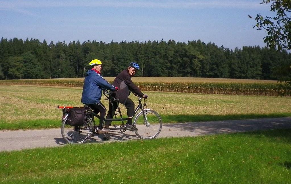 Das Duo unterwegs