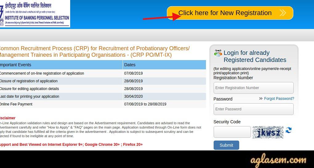 IBPS PO Apply Online 2020