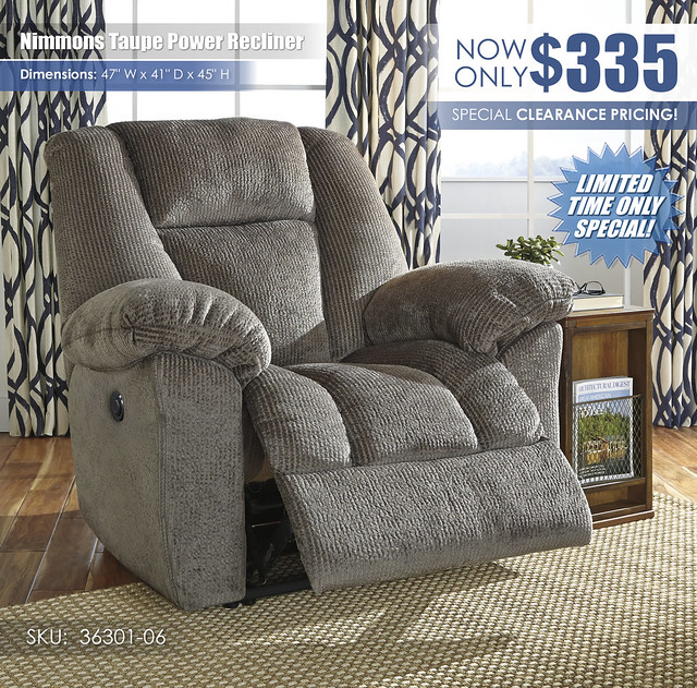 Nimmons Taupe Power Recliner_36304-06_RSS