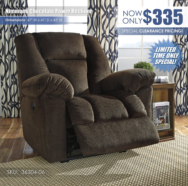 Nimmons Chocolate Power Recliner_36304-06_RSS