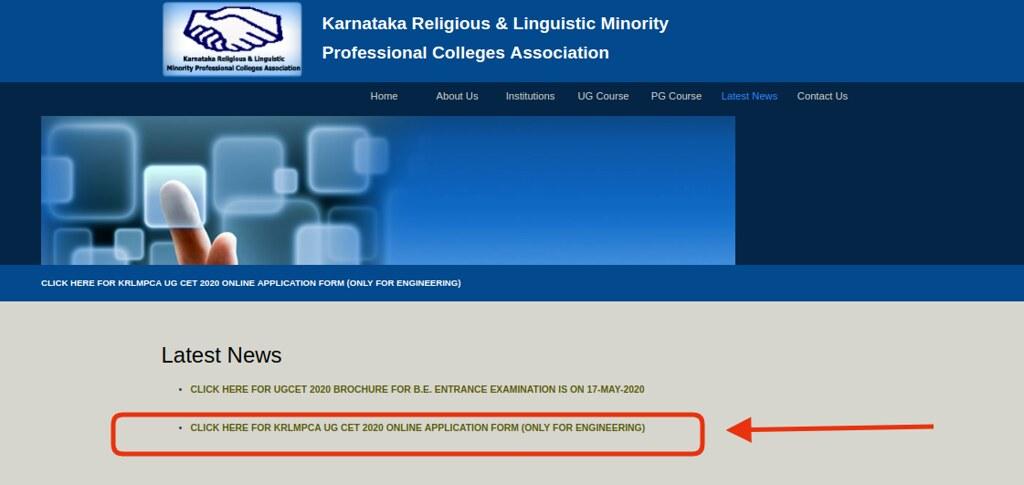KRLMPCA UGCET 2020 Application Form