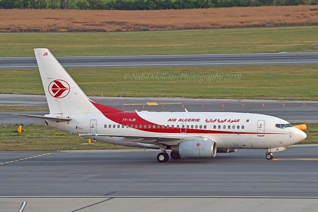 Air Algérie 7T-VJR Boeing 737-6D6 cn/30545-1131 @ LOWW / VIE 20-06-2018