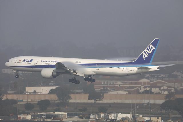 JA734A, Boeing 777-300ER, All Nippon Airways, Los Angeles