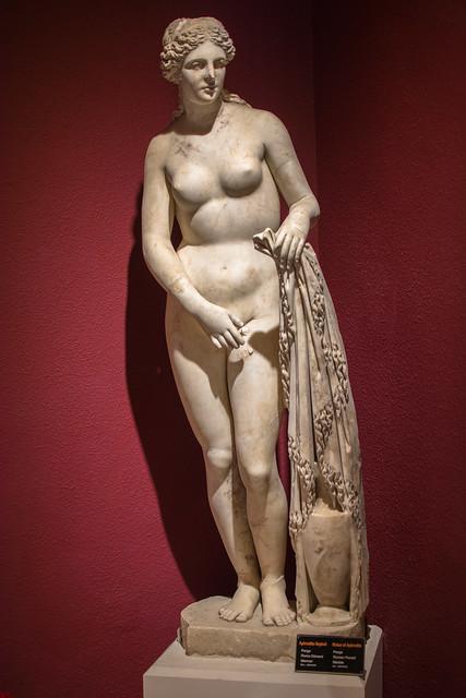 ANTALYA MUSEUM   Turkey. Statue of  Aphrodite. Perge Ancient City.