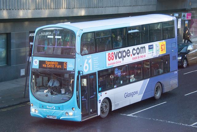 First Glasgow Volvo B9TL 37542