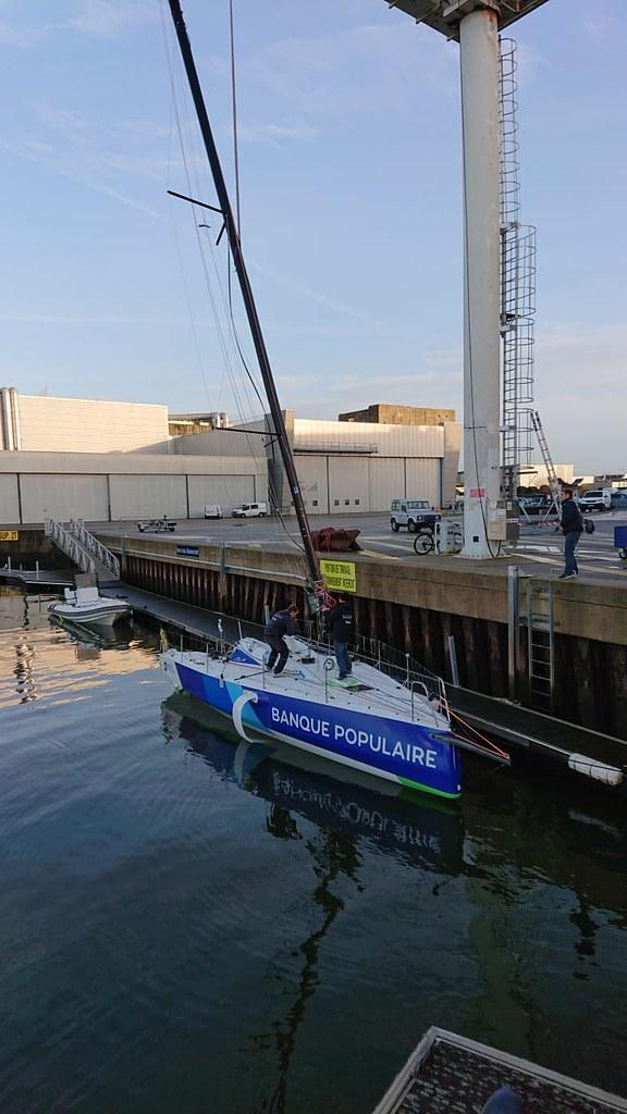 Mise à l'eau Figaro - Transat AG2R