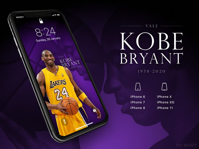 Vale Kobe Bryant (Los Angeles Lakers) iPhone Wallpaper