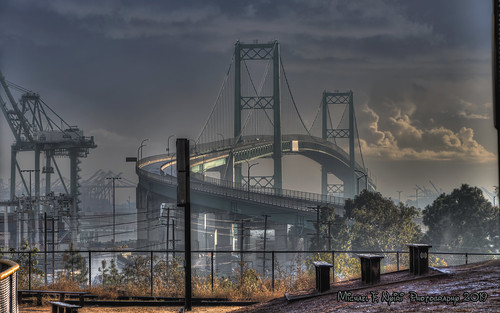 bridge vincentthomasbridge sanpedro california southerncalifornia morning sunrise
