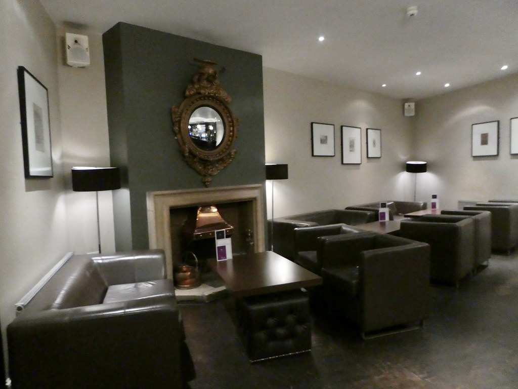 The lobby bar at The White Hart Hotel, Lincoln