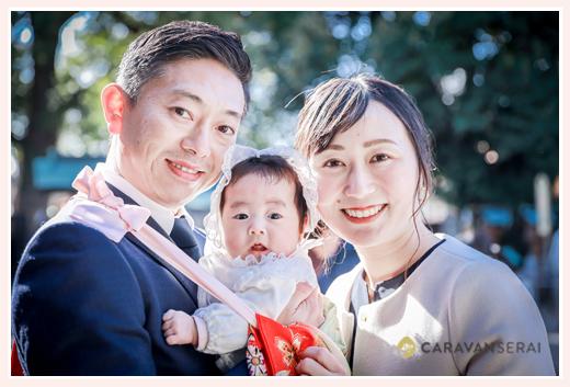 初宮参り 親子の写真