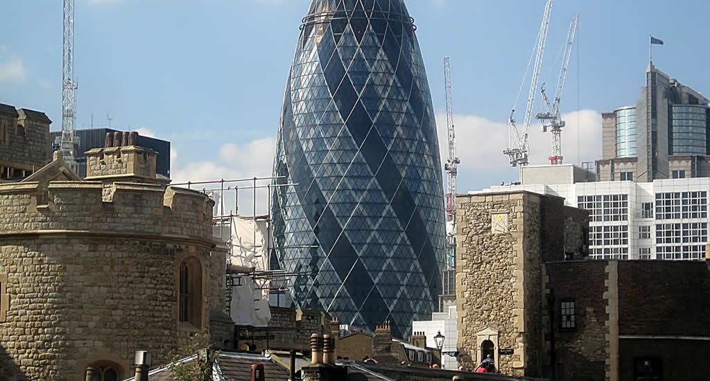 Fietsen in Londen: moderne architectuur in Londen | Mooistestedentrips.nl