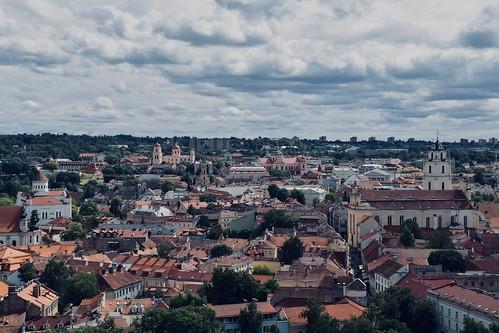 europe europa baltic baltics lithuania lietuva caste old town church vilnius nikon d5500 view city skyline