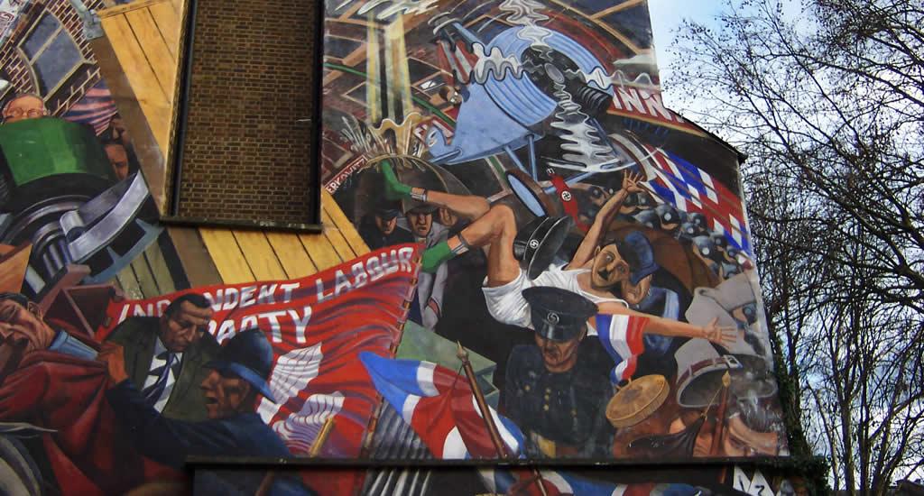 Fietsen in Londen: Cable Street Mural | Mooistestedentrips.nl